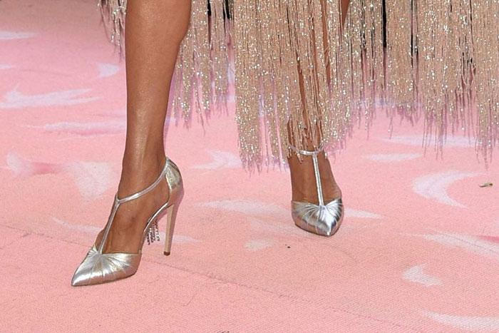 sandales champagne à talon haut Céline Dion
