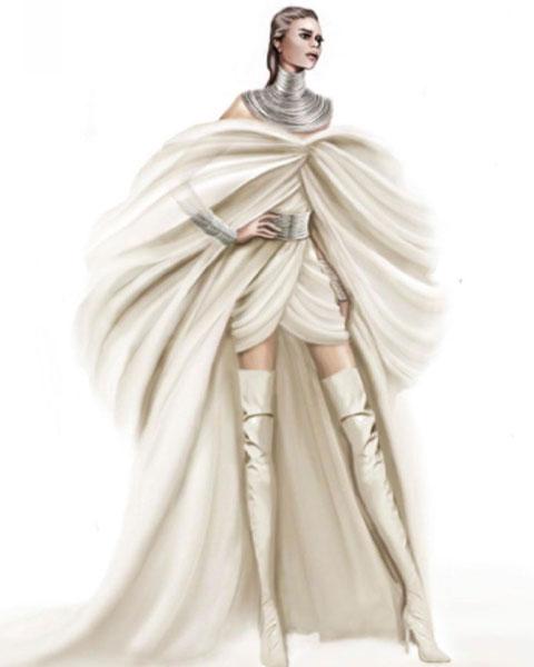 robe couleur crème personnalisée