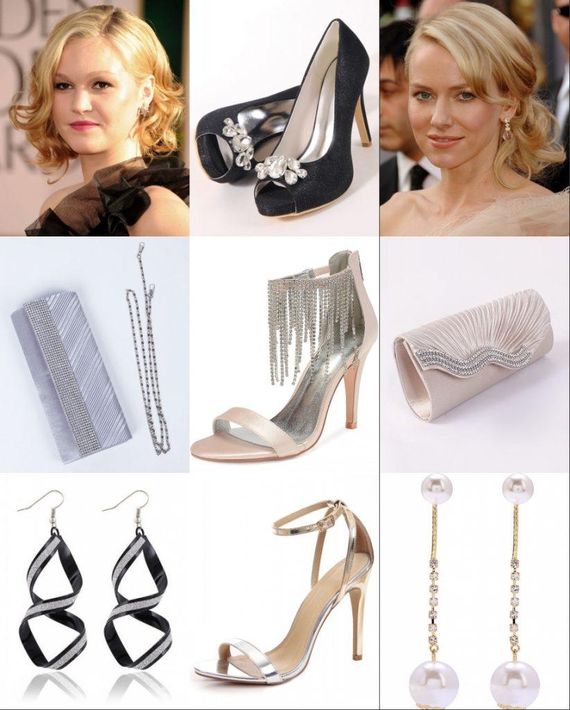 coiffure et accessoires associé bien les robes de soirée
