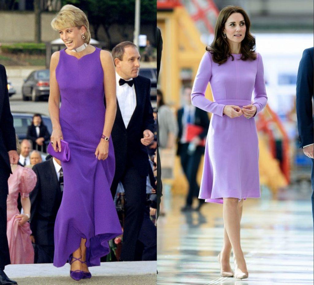 princesses portent robes de cocktail voilettes élégantes