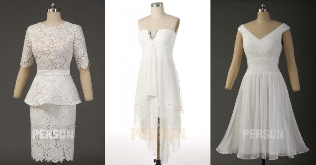 robe de cocktail courte blanche chic