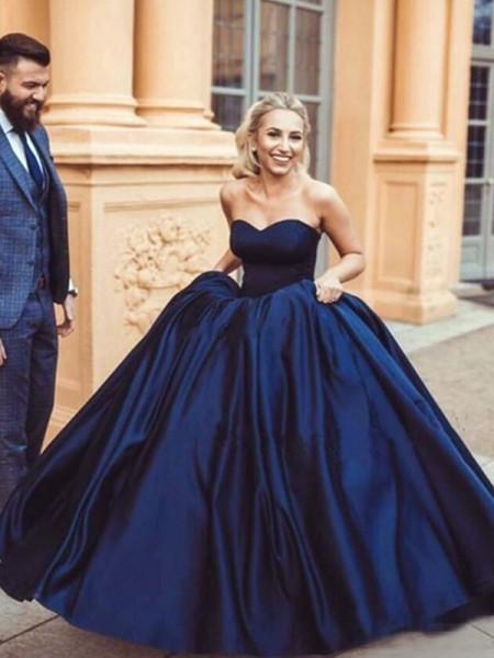 robe de bal princesse bleu royale bustier coeur