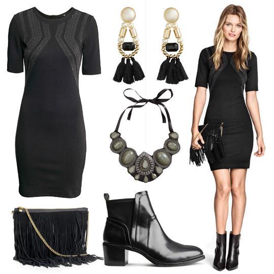 accessoires chic pour petite robe noire