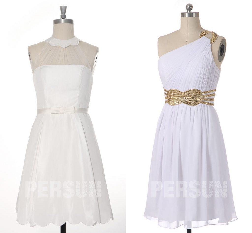petite robe blanche pas cher