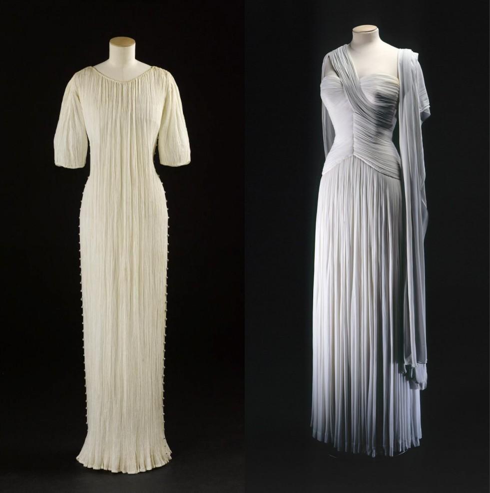 robe vintage longue plissé
