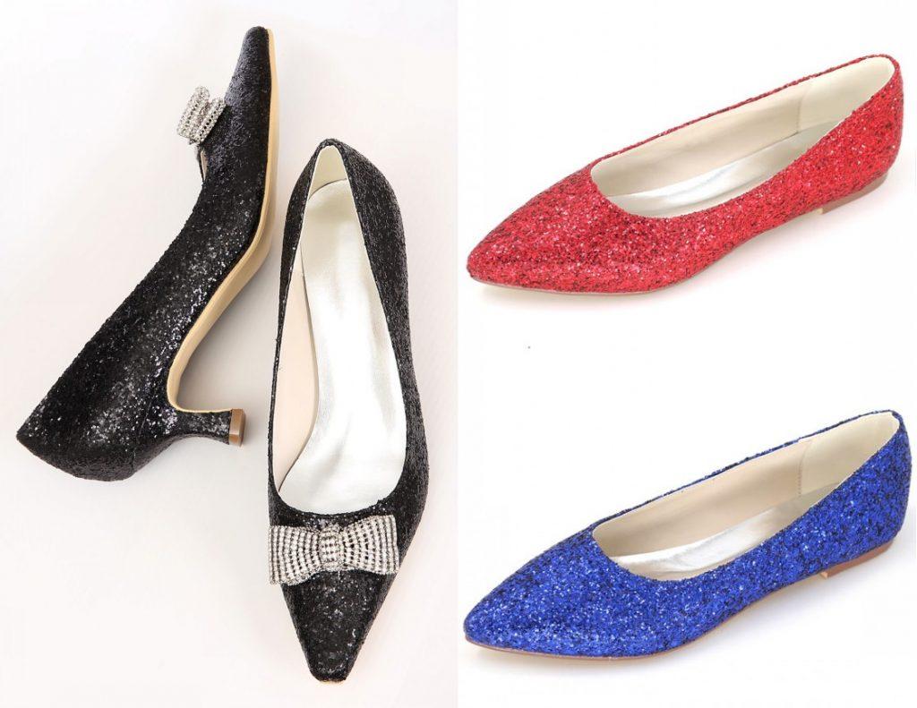 chaussures chic pailletées