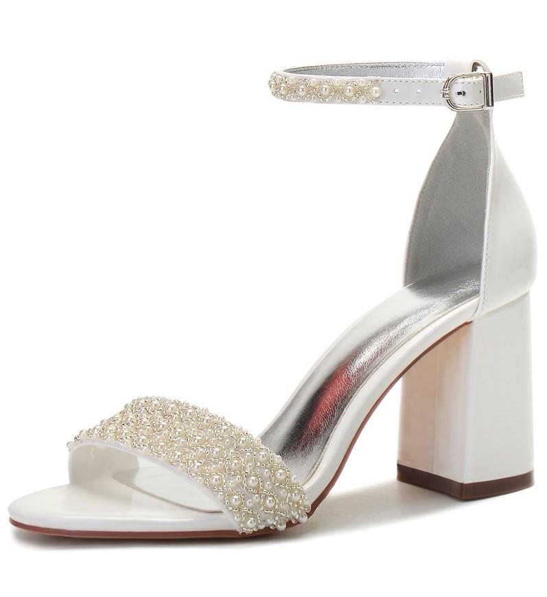 sandale de mariée chic bride perlé