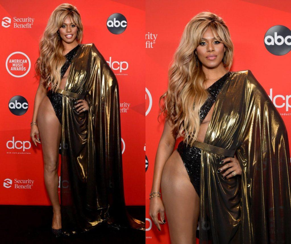 look de Laverne Cox aux American Music Awards