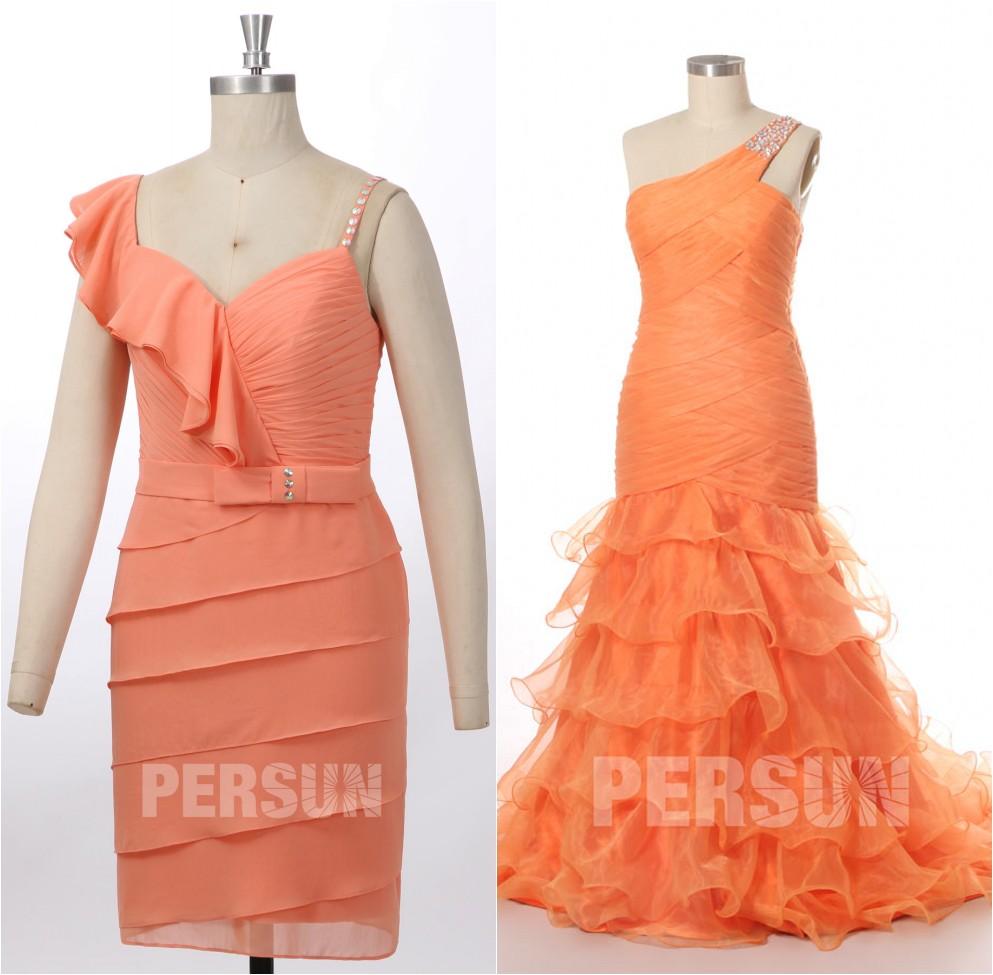 robe de cérémonie orange
