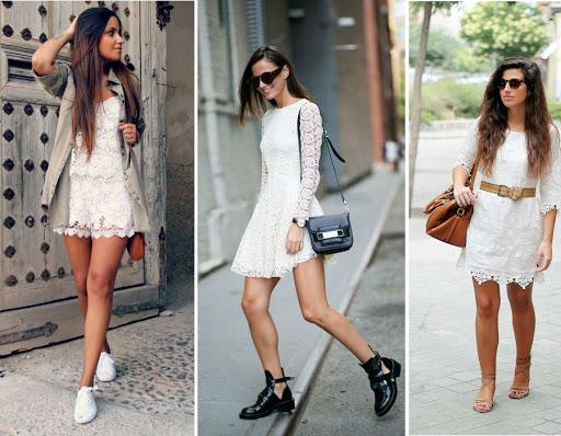 habiller robe blanche courte