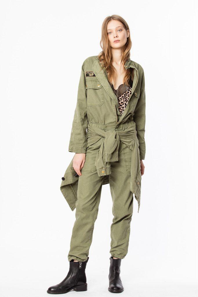 combinaison vert fashion